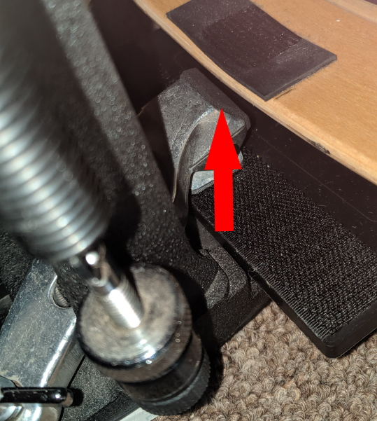 EBDL - Padding added to front of pedal clamp