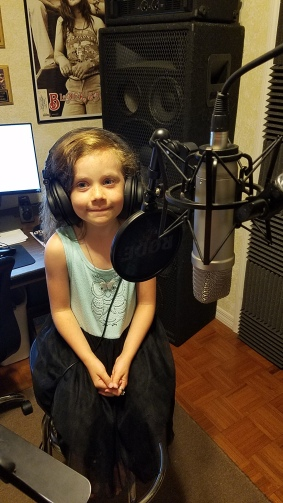 Gabby - Recording vocals for 'Set It All Free'