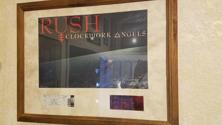Rush - Clockwork Angels print with 1st row and collector's ticket - Number 3687 of 5000 produced