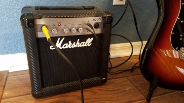 The mighty Marshall MG10CF 10 watt practice amp