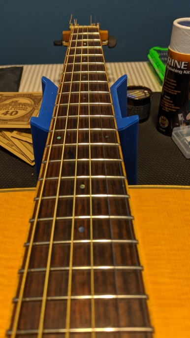 Rosewood fret board - After - 2