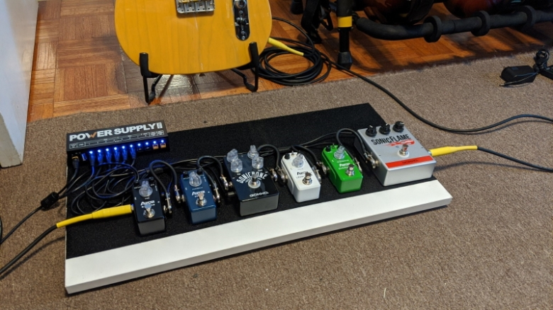 Pedalboard Project - Angled view