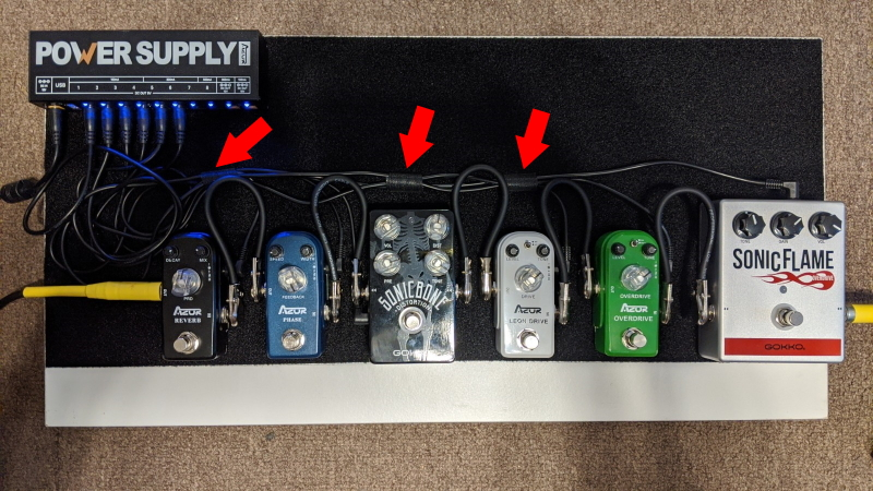 Pedalboard Project - Top view